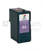 Inkoustová cartridge / náplň LEXMARK č.33 18CX033E (Tri-color) 20ml